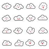 Иллюстрация вектора собрания облаков Стоковое Изображение RF