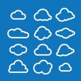Иллюстрация вектора собрания облаков Стоковое фото RF