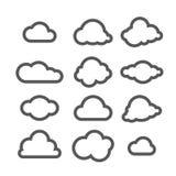 Иллюстрация вектора собрания облаков Стоковые Изображения