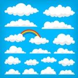 Иллюстрация вектора собрания облаков Стоковые Фото