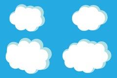 Иллюстрация вектора собрания облаков Стоковая Фотография RF