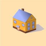 Иллюстрация вектора современного дома Стоковая Фотография RF