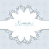 Иллюстрация вектора современного приглашения свадьбы Стоковое Изображение RF