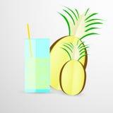 Иллюстрация вектора сока ананаса дальше Стоковые Фото
