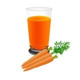 Иллюстрация вектора сока моркови, изолированная на белой предпосылке иллюстрация вектора