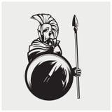 Иллюстрация вектора спартанского Стоковые Фотографии RF