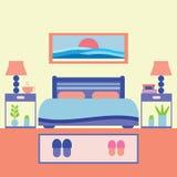 Иллюстрация вектора спальни Стоковая Фотография RF