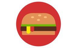 Иллюстрация вектора стиля значка гамбургера плоская бесплатная иллюстрация