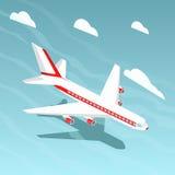 Иллюстрация вектора стиля самолета равновеликая Стоковое Изображение RF