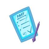 Иллюстрация вектора стиля шаржа ПК таблетки для обслуживания поставки Стоковая Фотография RF