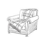 Иллюстрация вектора стиля эскиза стула Стоковые Изображения