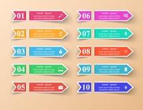 Иллюстрация вектора стиля origami Infographics дела Список  Стоковые Фотографии RF