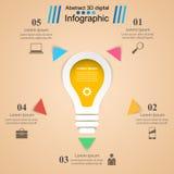Иллюстрация вектора стиля origami Infographics дела Шарик ic Стоковые Фотографии RF