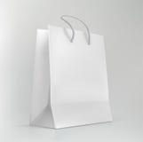 Иллюстрация вектора сумки белых покупок бумажной Стоковые Фотографии RF