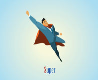 Иллюстрация вектора супергероя бизнесмена Стоковое Изображение