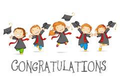 Счастливые студент-выпускники бесплатная иллюстрация