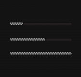 Иллюстрация вектора с баром загрузки Стоковая Фотография RF
