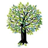 Иллюстрация вектора с деревом Стоковое Изображение