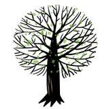 Иллюстрация вектора с деревом Стоковое фото RF