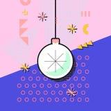 Иллюстрация вектора с игрушкой рождественской елки с снежинкой сделано Стоковое фото RF