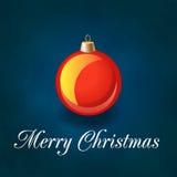 Иллюстрация вектора с Рождеством Христовым с шариком рождества Иллюстрация вектора