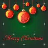 Иллюстрация вектора с Рождеством Христовым Стоковое Изображение RF