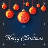 Иллюстрация вектора с Рождеством Христовым Стоковые Изображения