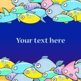 Иллюстрация вектора с рыбами в стиле шаржа Стоковое Изображение RF