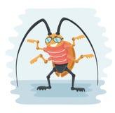Иллюстрация вектора таракана шаржа Стоковое Изображение RF