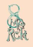Иллюстрация вектора текста 8-ое марта Стоковое Изображение RF