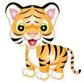 Иллюстрация вектора тигра шаржа Стоковые Изображения RF