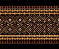 Иллюстрация вектора украинского фольклорного безшовного Пэт Стоковые Изображения RF