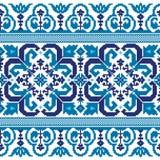 Иллюстрация вектора украинского фольклорного безшовного Пэт Стоковое Изображение