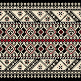 Иллюстрация вектора украинского фольклорного безшовного Пэт Стоковые Фотографии RF