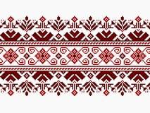 Иллюстрация вектора украинского фольклорного безшовного Пэт Стоковые Изображения
