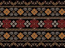 Иллюстрация вектора украинского фольклорного безшовного Пэт Стоковое Изображение RF