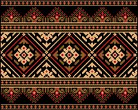 Иллюстрация вектора украинского фольклорного безшовного Пэт Стоковые Фото