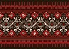 Иллюстрация вектора украинского фольклорного безшовного Пэт Стоковое Фото
