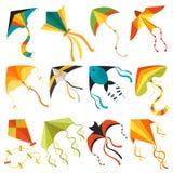 Иллюстрация вектора утехи мухы игрушки потехи ветра змея летания иллюстрация штока