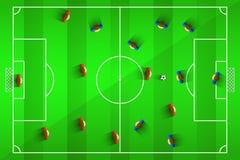Иллюстрация вектора футбола Стоковое Фото