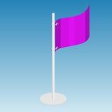 Иллюстрация вектора флага равновеликая Стоковая Фотография