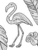 Иллюстрация вектора фламинго Стоковые Фотографии RF