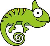 Иллюстрация вектора хамелеона Стоковое Фото