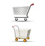 Иллюстрация вектора ходя по магазинам значка вагонетки 2 или магазинной тележкаи Стоковая Фотография