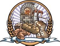 Иллюстрация вектора хлебопека в стиле Woodcut Стоковые Фотографии RF