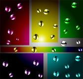 Иллюстрация вектора цвета атомов Бесплатная Иллюстрация