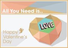 Иллюстрация вектора цитаты дня валентинок Стоковые Изображения RF