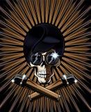 Иллюстрация вектора черепа поп-звезды Стоковое Изображение RF