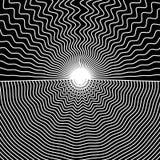 Иллюстрация вектора черно-белых линий Стоковое фото RF