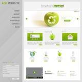 Иллюстрация вектора шаблона вебсайта Eco Стоковые Фотографии RF